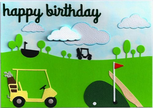 Birthday card with a golf course artsncards – Birthday Cards Golf